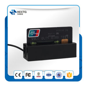 3 Tracks Mini Portable Magnetic Stripe Card Reader (HCC750U-06) pictures & photos