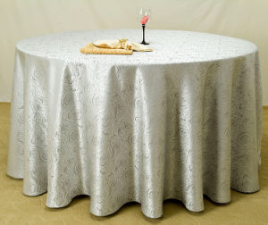 100% Polyester Restaurant Table Cloth for Hotel (DPF10781) pictures & photos