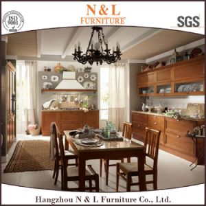 Modern Home Furniture PVC Wood Kitchen Cabinet Furniture pictures & photos