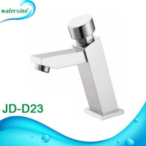 Brass Time Delay Tap Square Shape Basin Mixer pictures & photos