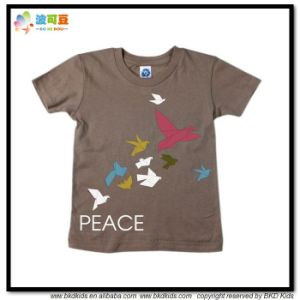 Round Neck Children Wear Unisex Children Shirt pictures & photos