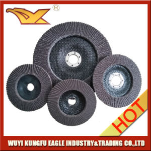 4′′ High Quality Calcination Oxide Flap Abrasive Discs (Fibre glass cover 22*14mm) pictures & photos