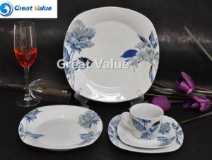 20PCS Square Porcelain Plate Factory pictures & photos