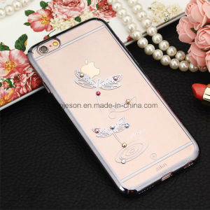 Diamond Dragonfly Electroplating Hard Anti Fall Cell Phone Case for iPhone 6/6s/6 Plus pictures & photos