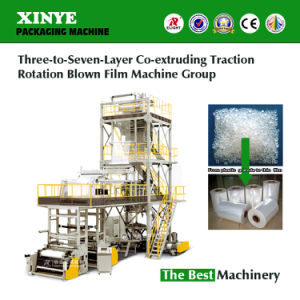 Three-to-Seven-Layer Co-Extruding Traction Rotation Blown Film Machine Blowing Machine pictures & photos
