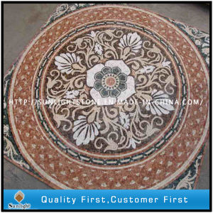 Mixed Marble & Travertine Stone Mosaic Medallion Flooring for Home Decoration pictures & photos