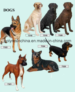 Fiber Glass Dogs Statue in Large Size pictures & photos