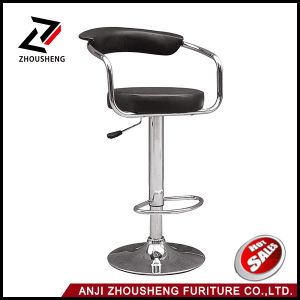 Leisure Steel PU Restaurant Barstool Home Dining Kitchen Pub Bar Stool Zs-501 pictures & photos