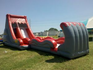 Giant Inflatable Volcano Water Slip and Slide for Sale pictures & photos
