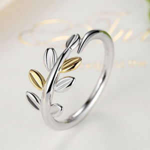 Leaf Design 925 Sterling Silver Ring Jewelry Women pictures & photos