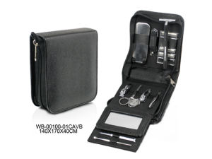 Multi-Function Personal Care Black Leather Manicure Set for Man pictures & photos