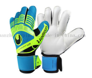 OEM Latex Emulsion Non-Skid Taekwondo Football Goalkeeper Gloves pictures & photos