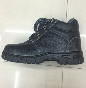 Winter Work Safety Shoes (Upper: artificial leather, Sole: rubber) pictures & photos
