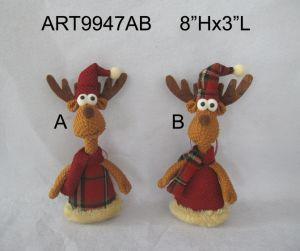 Woodland Christmas Decoration Reindeer Ornament-2asst pictures & photos