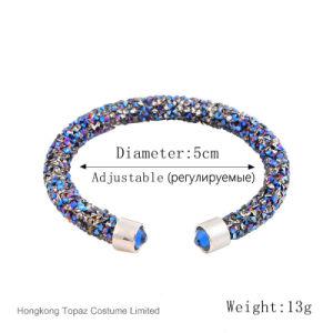 2017 Brand Crystal Wrap Bracelets Bangles Crystal Dust Cuff Bracelets for Women Fashion Jewelry (TB-004 single bracelet) pictures & photos