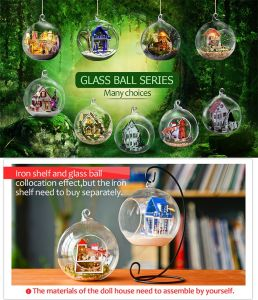 Unfinished Home Decoration Glass Ball Miniature Dollhouse Building Supply pictures & photos