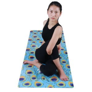 Natural Tree Rubber Yoga Mat Micro Suede Antislip Ecofriendly pictures & photos