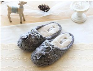 Ladies Knitted Indoor Slippers Women Knit Slippers Footwear Shoes pictures & photos