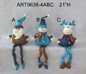 Dangle Legged Advent Countdown Calender Christmas Decoration -3asst pictures & photos