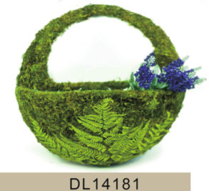 Beautiful Wall Moss Hanging Flower Basket pictures & photos