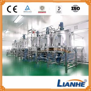 Shampoo/Cosmetic/Liquid Mixing Tank with Homogenizer/Mixer/Emulsifier pictures & photos