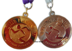 Medal for Club Platinum with Different Plating Color Decoration, Gift