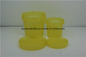 Yellow Design Cosmetic Plastic Cream Use Jar for Selling pictures & photos