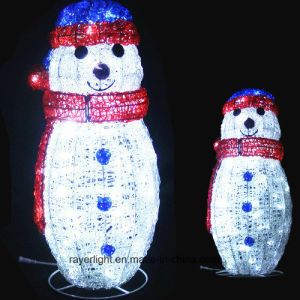 Lovely and High Waterproof Christmas Decoration High Quality LED Snowman Light pictures & photos