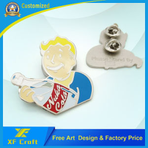 Custom Funny Cartoon Figure Cheap Enamel Design Lapel Pin with Butterfly Clasp (XF-BG010) pictures & photos