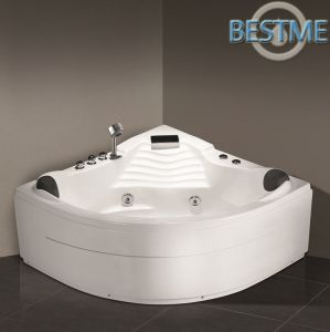 Hot Sales Bathroom Triangle Acrylict Bathroom Massage Jacuzzi Bath Tub (BT-A1027) pictures & photos