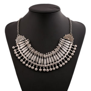 Fashion Metal Alloy Tassel Alloy Statement Choker Necklace Jewelry pictures & photos
