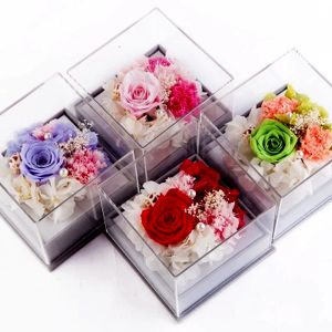 Wholesale Perspex Flower Display Clear Acrylic Rose Box pictures & photos