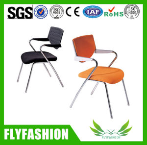 Frabic School Canteen Library Office Steel Armrest Chair pictures & photos