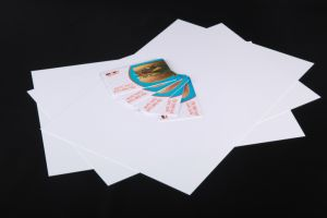 Fluorescence Offset Printing Matt PVC Card-Making Material pictures & photos
