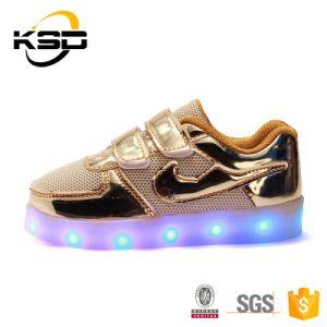 2016 Hot Selling Fashion Kids Flashing LED Light Shoes Buckle Strap Lighting LED Shoes
