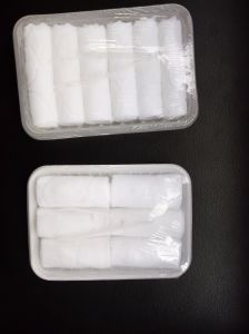 Oven Heatable Wet Towel Airline Wet Towel Factory Tray Packing Wet Towel pictures & photos