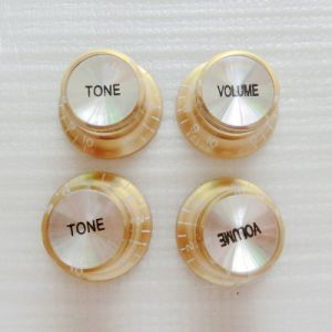 Reflector Gold Color Top Hat Speed Control Guitar Knob pictures & photos