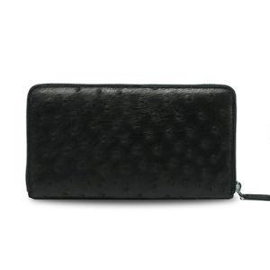 Men Luxury Travel Wallet Genuine Ostrich Leather Clutch Wallet pictures & photos