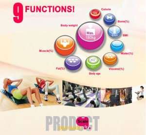 180kg Glass Large Screen Bluetooth Electronic Personal Weighing Bathroom Scale pictures & photos