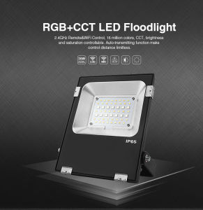 2.4G Remote/Mobile APP Controlled 20W RGB+CCT LED Floodlight (FUTT04) pictures & photos
