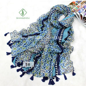 Retro National Style Beach Shawl Fashion Scarf pictures & photos