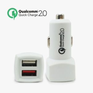 Cell Phone Car USB Charger QC2.0 Dual USB Car Charger pictures & photos