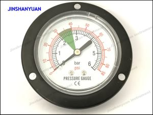 Gpg-011 Black Steel Dry Pressure Gauge /Front Flange Pneumatic Manometer pictures & photos