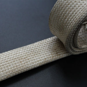 Saturated Braided Fiberglass Sleeve for Wire Cable Pipe Protection pictures & photos