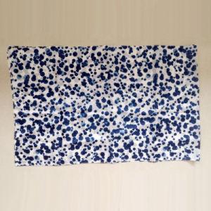 DOT Printed Silk Chiffon Long Scarf Blue