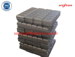63HRC Cast Iron Domite Chocky Blocks for Mining Bucket Wear Abrasion pictures & photos