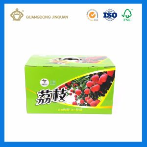 High Quality Fruit Packaging Shipping Box with Plastic Handle (Strong E flute Corrugated Box) pictures & photos