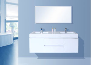 Modern Painting Bathroom Cabinet (glossy white) pictures & photos