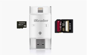 Hot Sale 3 in 1 USB 2.0 Card Reader Support TF/SD Card Suitable for Ios/Android and PC pictures & photos