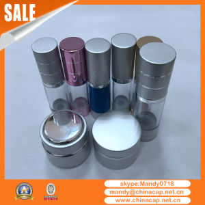 Stock Aluminum PP Transparent Airless Bottles for Lotion Cream pictures & photos